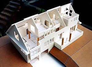 Photo of a model of the Lake Forest Park residence